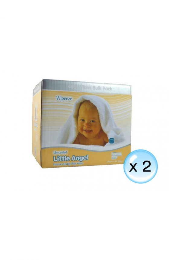 Little Angel Unscented Baby Wipes //12 Packs x 80 Wipes