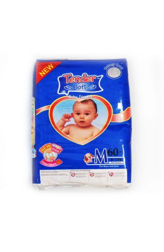 MINE BABY Medium Nappies 60pk