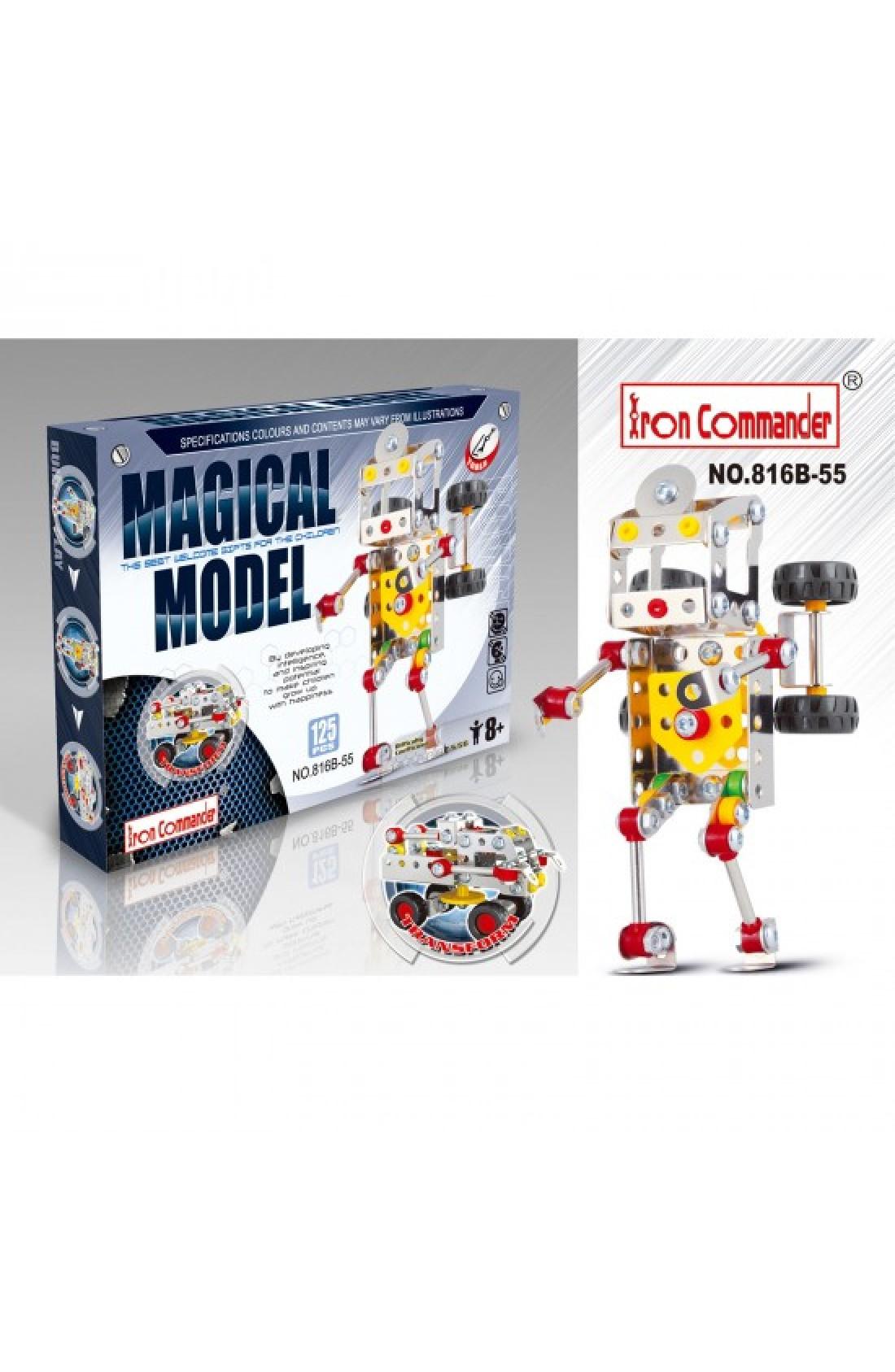 Iron Commander Meccano Style DIY Metal Robot- Model 816B-55