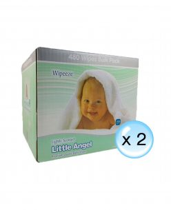Little Angel Lightly Scented Baby Wipes // 12 Packs x 80 Wipes