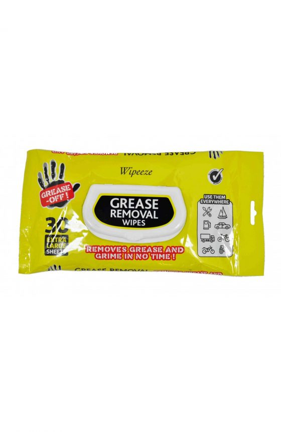 Grease-Off Wipes // 30 Extra Large Wipes NEW