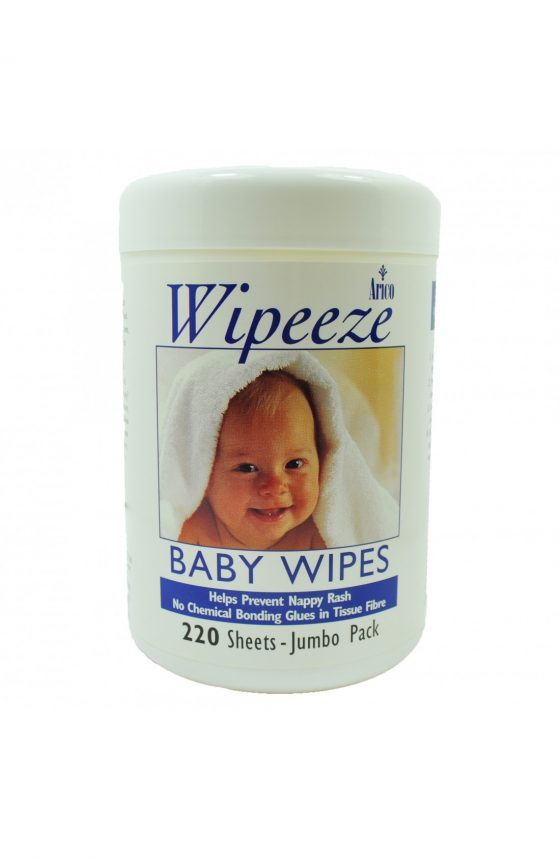 Little Angel Unscented Baby Wipes Jumbo Pack // 6 Canisters x 220 Wipes