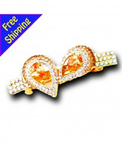 14K Gold Plated with high quality Rhinestone Eye Shape Hairclip
