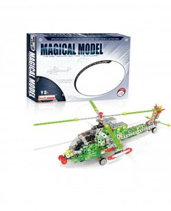 Iron Commander Meccano Style DIY Metal Combat Helicoper Model Construction Set Model: 816L-4