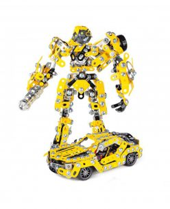 Iron Commander DIY Assembled Deform Robot Car Model Metal Blocks set Gifts