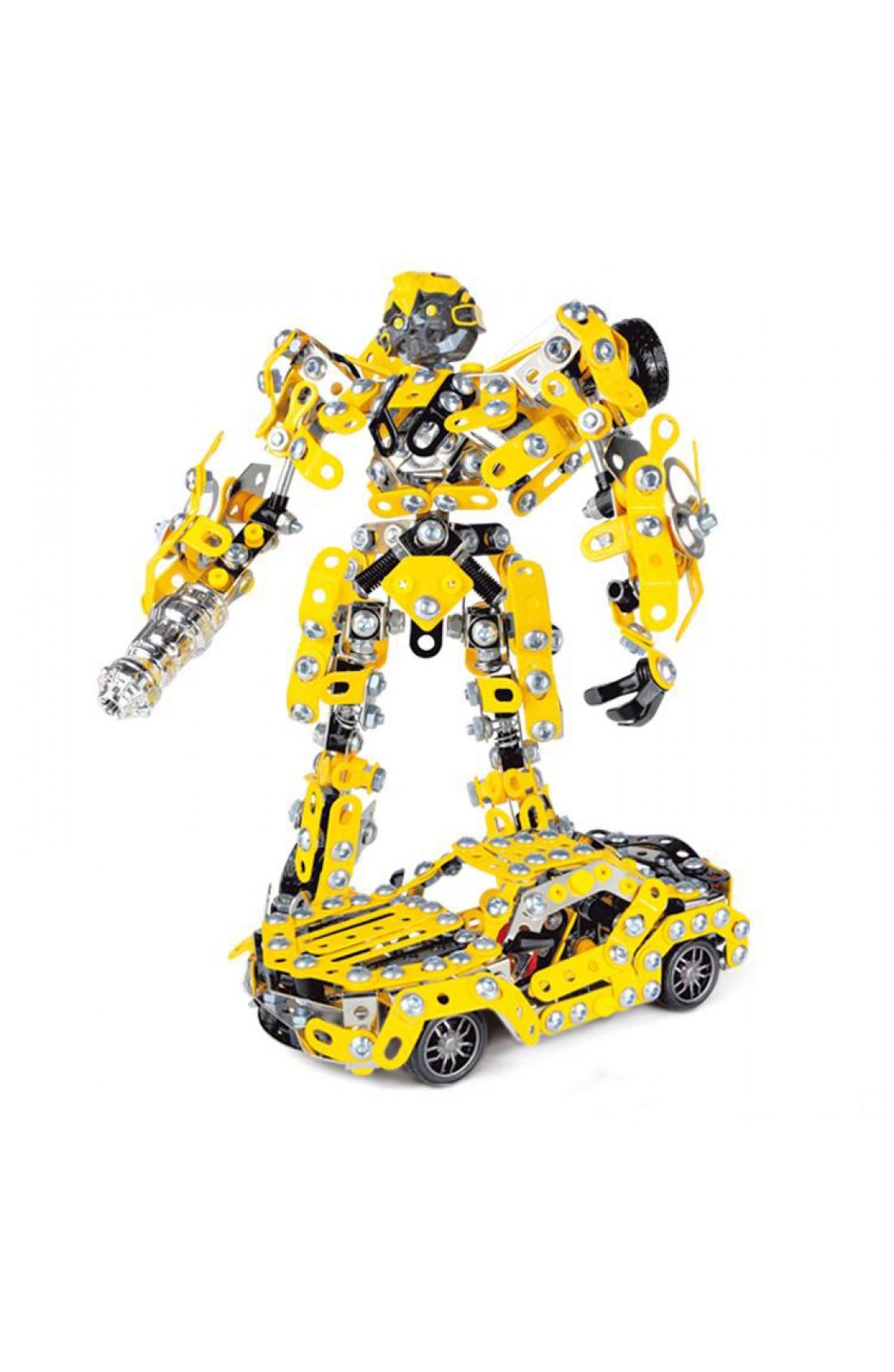 Iron Commander DIY Assembled Deform Robot Car Model Metal Blocks set Gifts