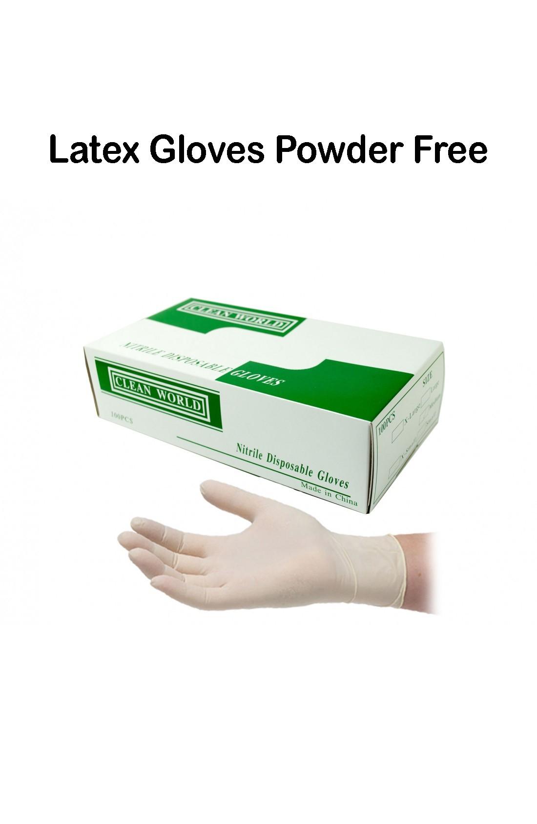 Disposable Latex Powder Free Gloves Medium 100 pieces