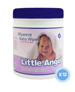 Little Angel Baby Wipes // 12 Canisters x 320 Wipes