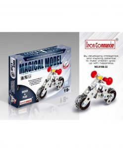 Iron Commander Meccano Style DIY Metal Motorcycle Model Construction Set Model: 816B-32