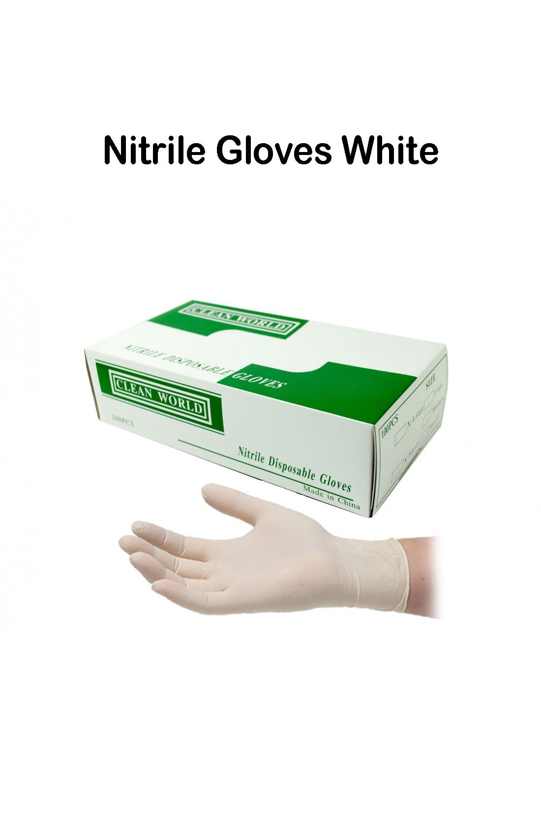 Disposable Nitrile Gloves Medium // 100 pieces