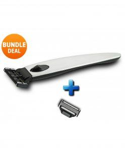 Titan-Series4 Metal Set // metal handle + 2 razor cartridges