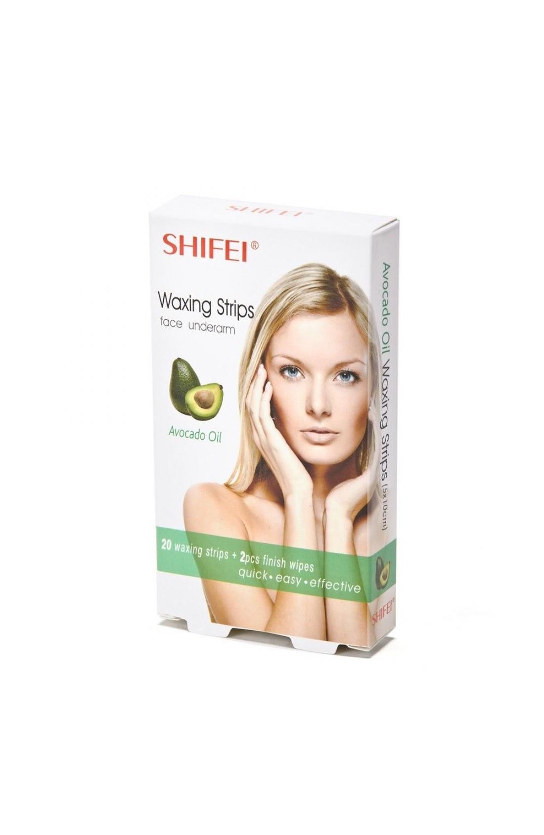 SHIFEI Avocado Oil Facial Cold Wax Strips