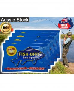 Fishing Hand Wipes — Removes Smells + Attracts Fish (5 x Individual Large Wipes)