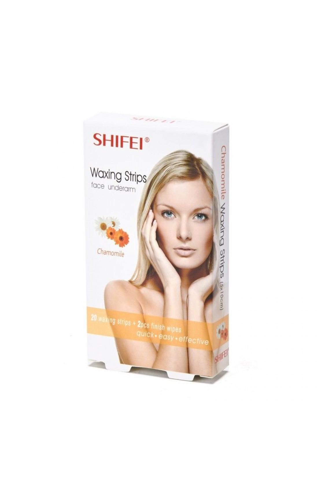SHIFEI Chamomile Facial Cold Wax Strips
