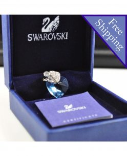 Swarovski Elements Crystal Blue Heart Shape Pendant