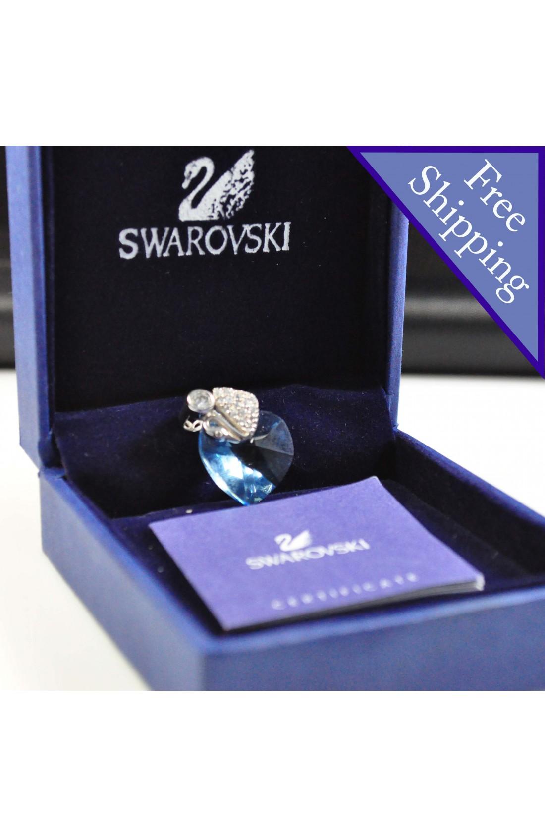 Swarovski Elements Crystal Blue Heart Shape Pendant