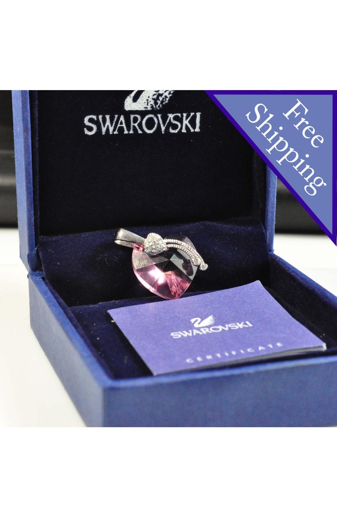 Swarovski Elements Crystal Light Pink Heart Shape Pendant