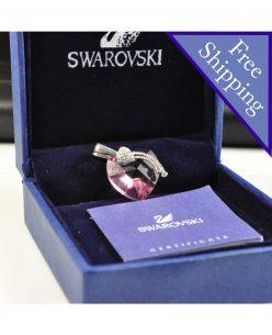 Swarovski Elements Crystal Amethyst Heart Shape Pendant