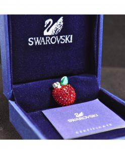 Swarovski Elements Crystal Red Apple Pendant