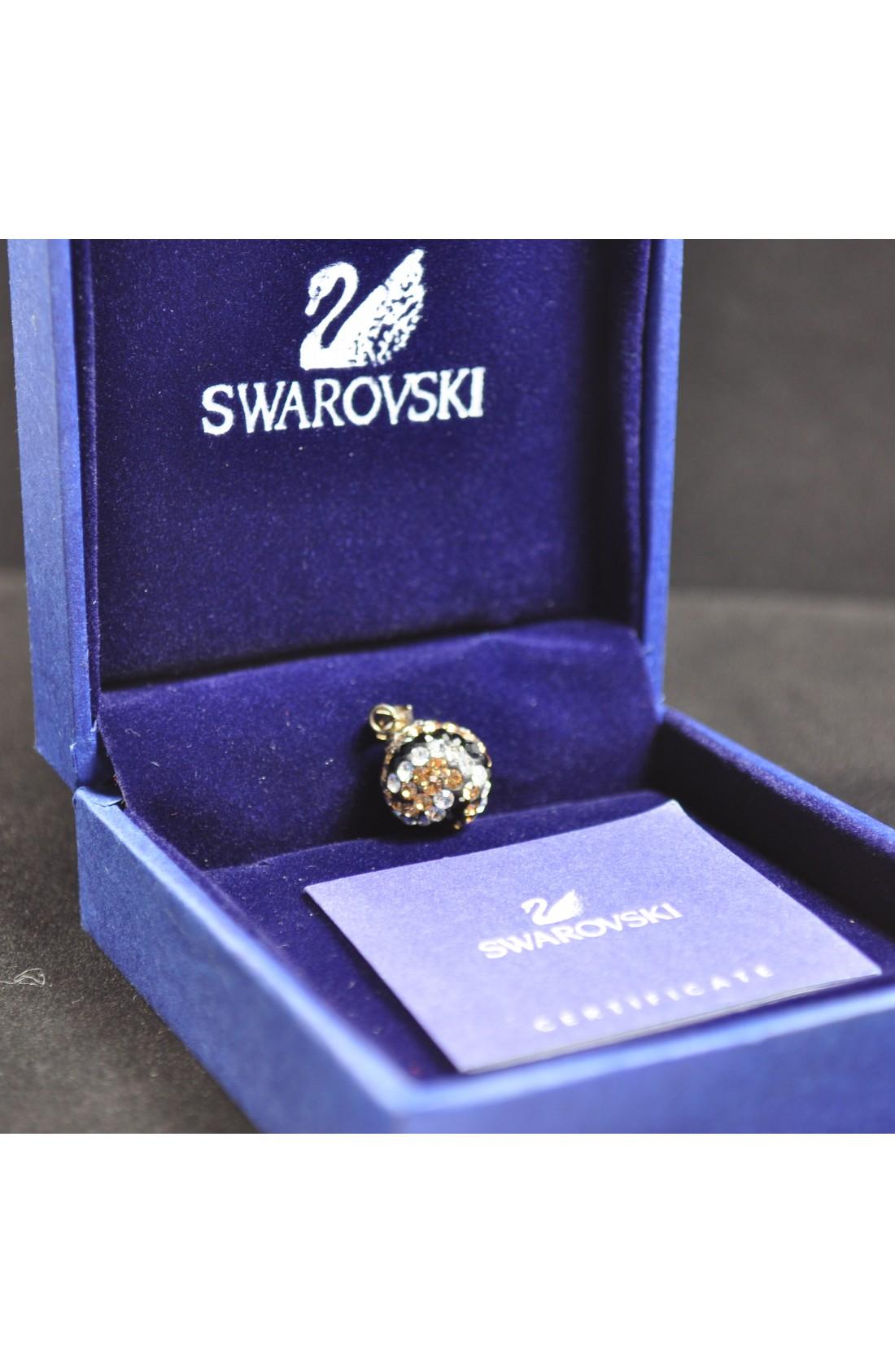 Swarovski Elements Crystal Brown Black Ball Pendant