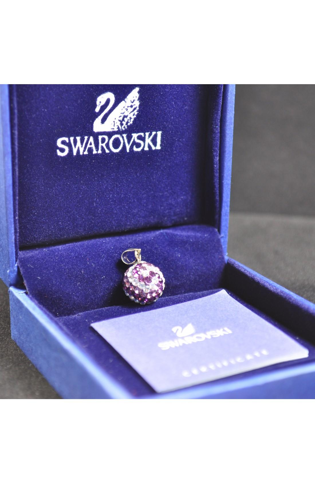 Swarovski Elements Crystal Purple White Ball Pendant