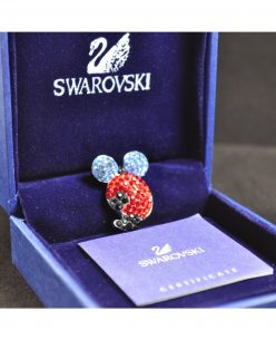 Swarovski Elements Crystal Red Black Mice Pendant