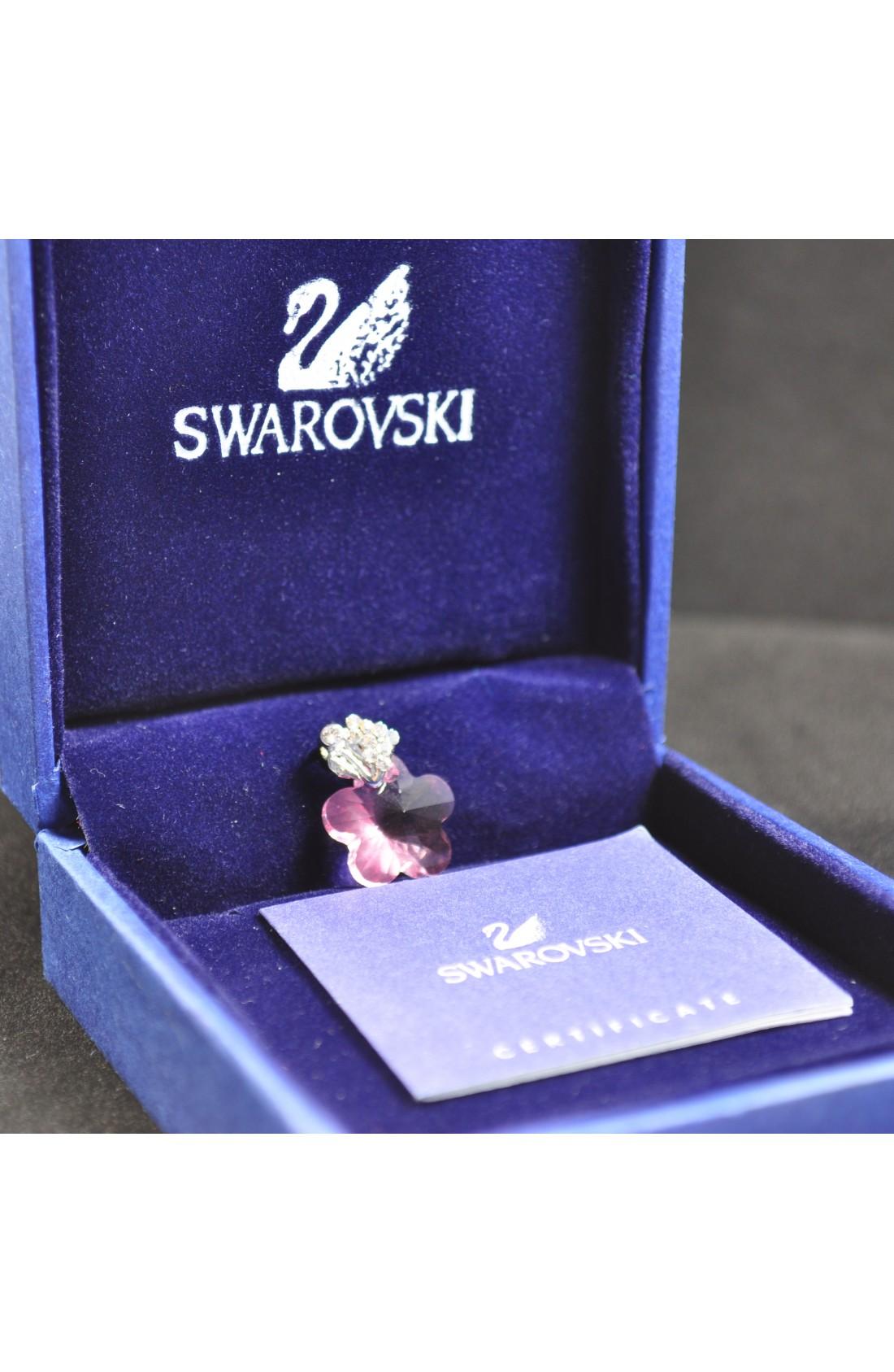 Swarovski Elements Crystal Purple Butterfly Pendant