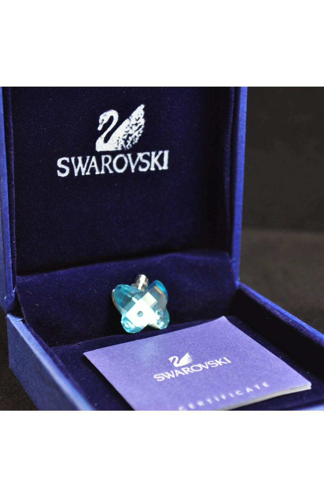 Swarovski Elements Crystal Blue Butterfly Pendant