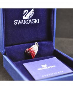 Swarovski Elements Crystal Red White Heart Pendant
