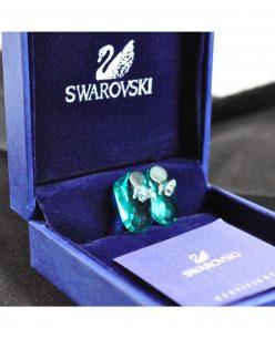 Swarovski Elements Crystal Sky Blue Shoes Pendant