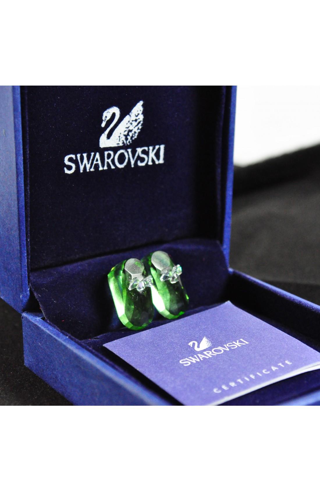 Swarovski Elements Crystal Green Shoes Pendant