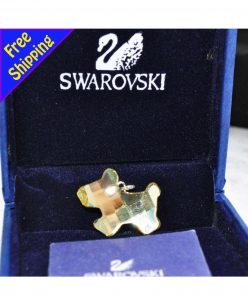 Swarovski Elements Crystal Little Golden Dog Pendant